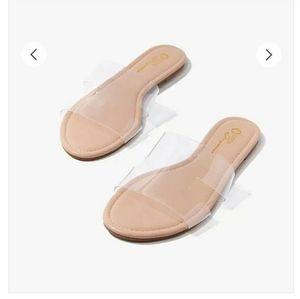 🔥Transparent faux leather sandals